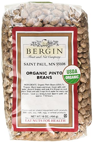 Bergin Nut Company Organic Pinto Beans, 16-Ounce Bags (Pack of 6) by Bergin Nut Company