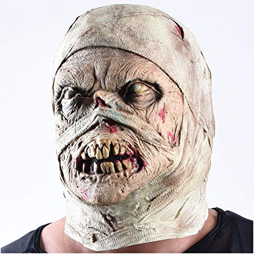 Ss Halloween Mask Adult Horror Scary Zombie Monster Face Mask Ghost Dry Corpse Mummy Mask Creepy Universal Party Costume Decoration Props -