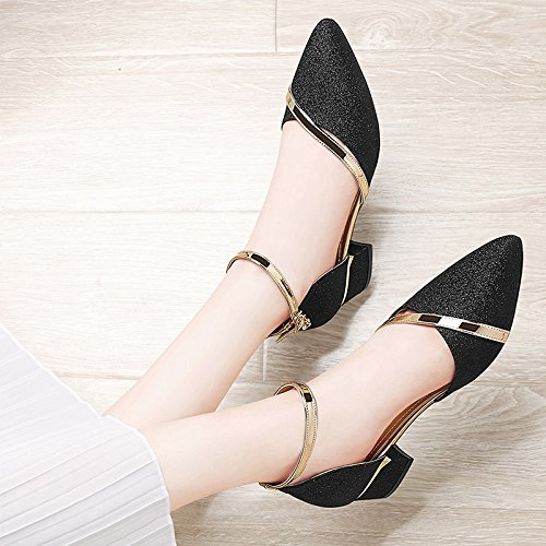 shoes high Pumps heel Black Sandals sexy High Heels shoes C Shoes evening ladies HUAIHAIZ Court girls Sandals vwx6SFqF