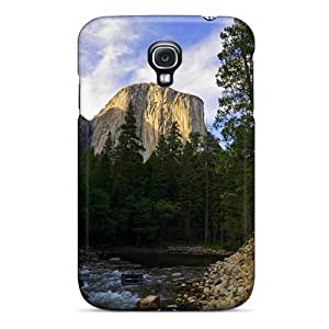 Galaxy S4 Case Cover - Slim Fit Tpu Protector Shock Absorbent Case (mountain Stream Beautiful S) by icecream design