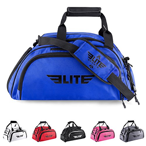 Elite Sports New Item Warrior Series Boxing MMA BJJ Gear Gym Duffel Backpack Bag (Blue