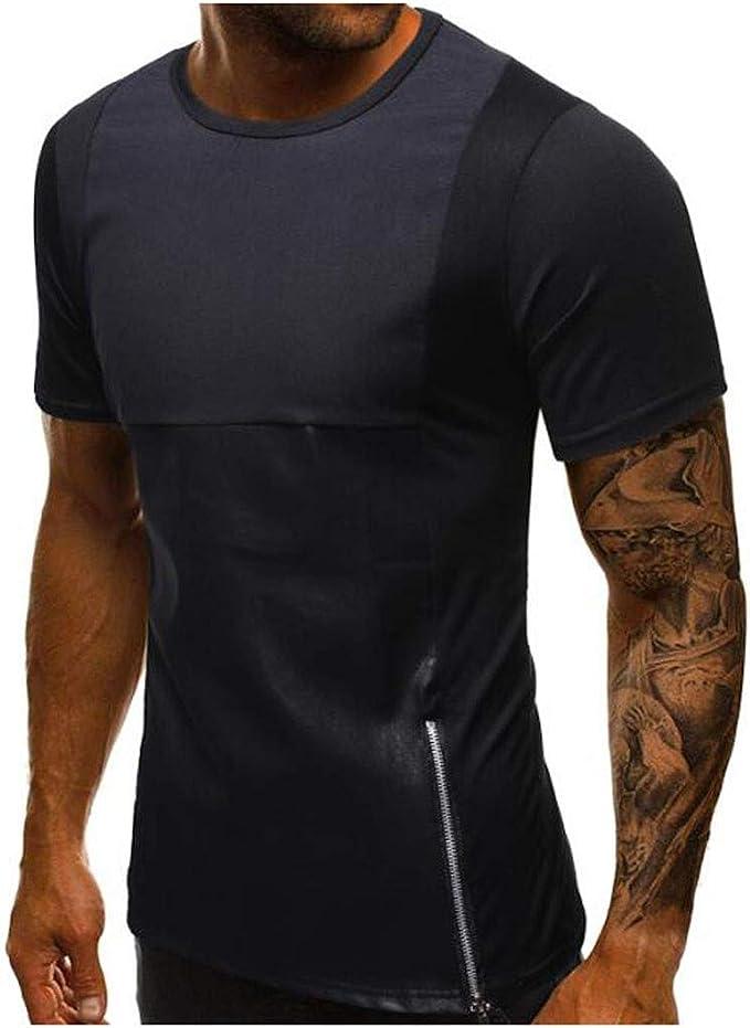 Viahwyt - Camiseta de Manga Corta para Hombre, para Deporte ...