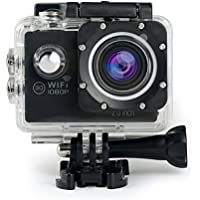 Sports Action Camera Bnoia WiFi 12MP Camcorder Waterproof Underwater Cam 170° Wide Angle Lens With Mounting Accessories Kit for Cycling Swimming Climbing