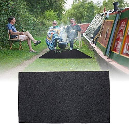 Tapis extérieur de Protection pour Barbecue 124 x 75 cm Tapis de Sol extérieur résistant au feu, à l'eau, aux éclaboussures, Ignifuge