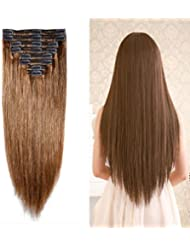 Amazon dry hair extensions extensions wigs accessories 10 22 clip in 100 remy human hair extensions double pmusecretfo Image collections