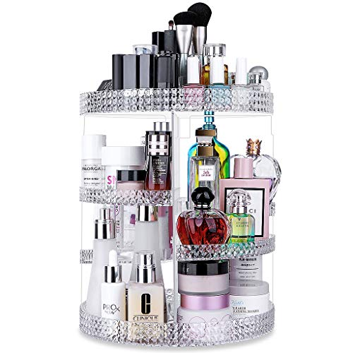 Awenia Makeup Organizer 360-Degree Rotating, Adjustable Multi-Function Makeup Storage, 7 Layers Large Capacity Cosmetic Storage Unit, Fits Different Types of Cosmetics and Accessories, Plus Size ()