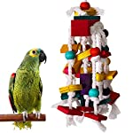 RYPET Bird Chewing Toy – Parrot Cage Bite Toys Wooden Block Bird Parrot Toys for Small and Medium Parrots and Birds