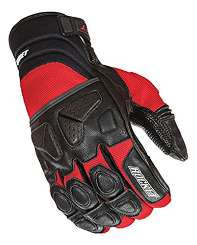 Joe Rocket Men's Atomic X Motorcycle Gloves (Red/Black, Large)