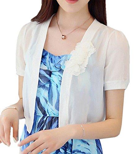 corta verano gasa Bolero chaleco transparente ligero manga suave mujer Blazer chal de de chaqueta Banco mujer Aeneontrue traje R1wqPEBXx