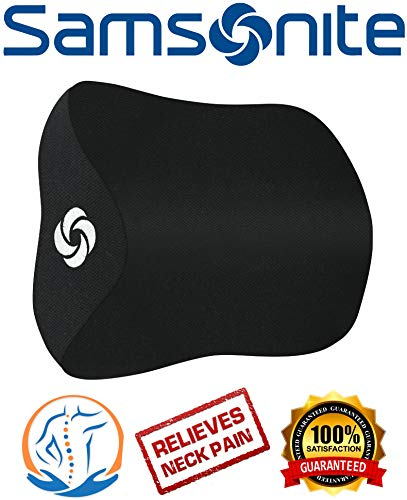 (Samsonite SA5942 \ Travel Neck Pillow for Car, SUV \ Helps Relieve Neck Pain \ 100% Pure Memory Foam)
