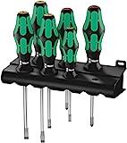 Wera Kraftform Plus 334/6 Screwdriver Set with Rack and Lasertip, 6-Pieces