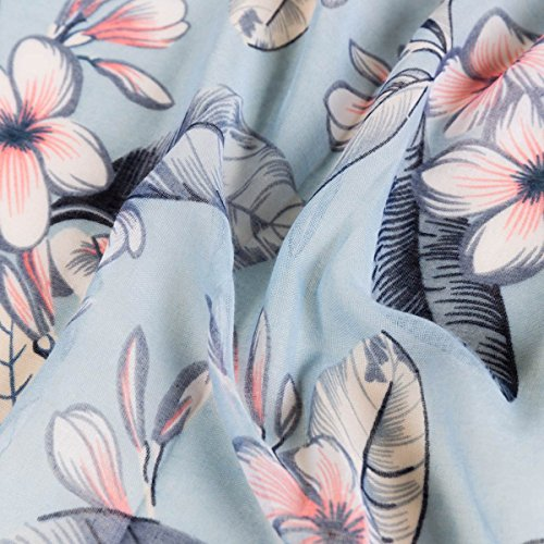 Flores de Pa seda uelo de Pofusion Elegante de Elegante Estampado Transpirable Aivtalk Bufanda sat seda 4pqzOp