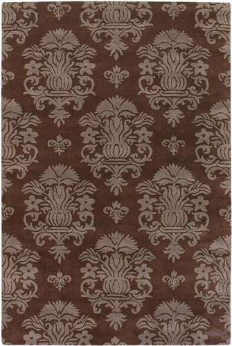 Chandra Rugs Antara Brown/Taupe 7'9 x 10'6 Hand-tufted Contemporary -