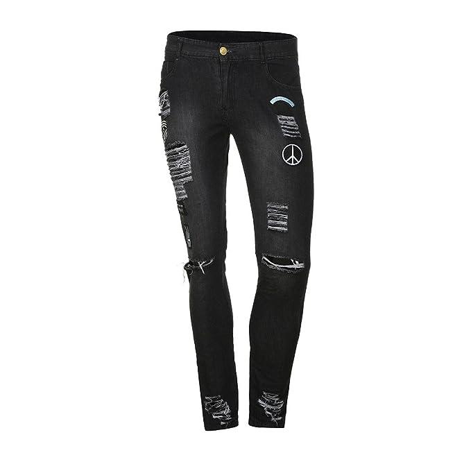 Amazon.com: Hunzed Men【Distressed Slim Jeans】 Boys ...