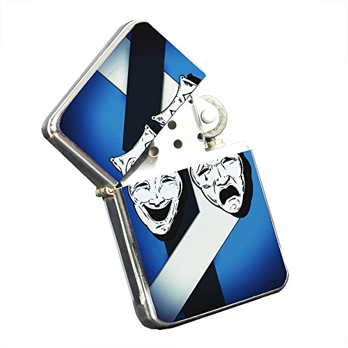 Tragedy Comedy - Silver Chrome Pocket Lighter by Elements of Space by Elements of Space