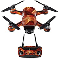 Skin for DJI Spark Mini Drone Combo - Bacon| MightySkins Protective, Durable, and Unique Vinyl Decal wrap cover | Easy To Apply, Remove, and Change Styles | Made in the USA
