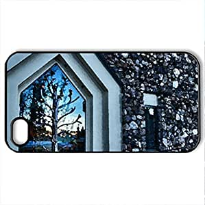 Entry - Case Cover for iPhone 4 and 4s (Watercolor style, Black)