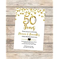 amazon com anniversary invitations stationery handmade products