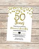 50th Wedding Anniversary Invitation, Black And Gold 50th Anniversary Invitation, Golden Anniversary Invite, 50th Golden Wedding Anniversary Invitations