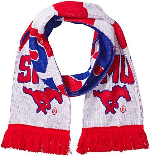 RUFFNECK NCAA SMU Mustangs Mustangs Jacquard Knit Scarf, One Size, ()