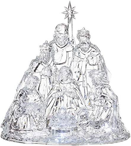 Raz Imports Seasonal 15 Large Wise Men Lighted Baby Jesus Acrylic Christmas Nativity Set