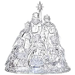 Lighted Acrylic Christmas Nativity Set