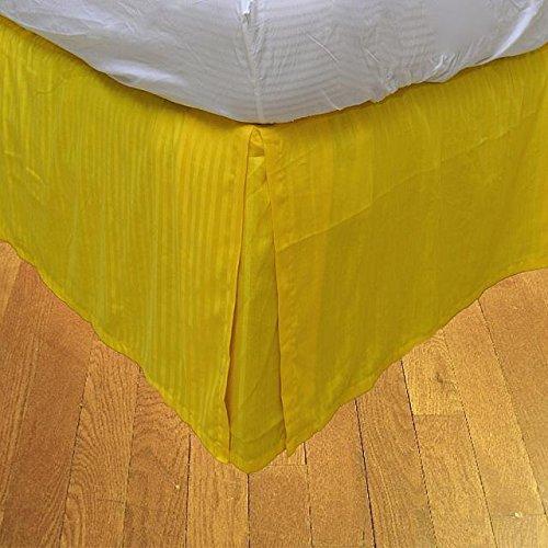Finition élégante LaxLinens 550 fils 1 jupe plissée chute de lit Longueur    15 cm, 100 empereur %coton-Jaune