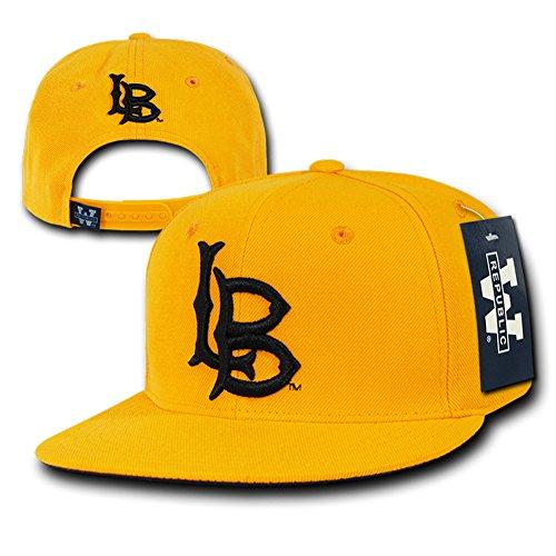 Acrylic College Hat - W Republic The Freshman, College Snapbacks (Long Beach State, Gold)