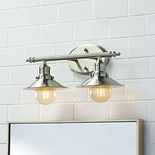 Home Decorators Collection 2-Light Brushed Nickel Retro Vanity Light ()