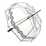 Vinrella Premium Quality Clear Bubble Umbrella - Wave