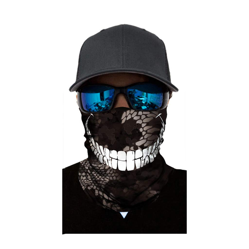 Dream_mimi Full Function Ski Motorcycle Riding mask Neck Tube Warmer Cycling Biker Scarf Wind Face Mask (C)