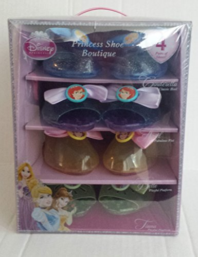 Disney Princess Shoe Boutique Cinderella Heels, Ariel Sandals, Bell & Tiana Shoes (Disney Princess Girls Cinderella Classic Costume)
