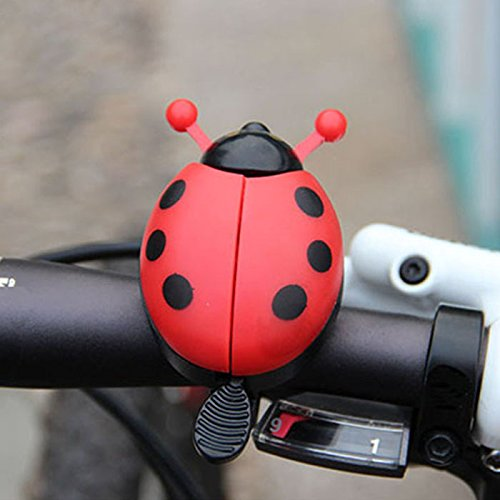 Bicycle Bell Ringer - Cute Ladybug Bicycle Bell Ringer for Kids [Red] Bicycle Ringer