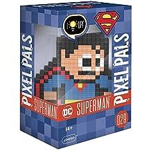 PDP -A-06123 Pixel Pals Dc Superman Colecionável Luminoso de Pixel-Art