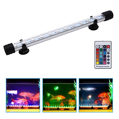 Ugrade Kit - LED Aquarium Light for Fish Tank, Waterproof Underwater Fish Tank Light Kit Submersible Lamp with Remote Control 37cm/14inch
