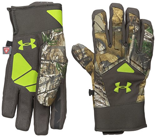 Under Armour Men's ColdGear Infrared Scent Control 2.0 Primer Gloves, Realtree Ap-Xtra (946), Small
