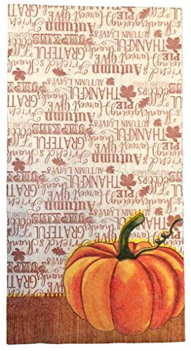 Fall Decoration Guest Napkin with Watercolor Pumpkin Design 2 Packs of 14 napkins each]()
