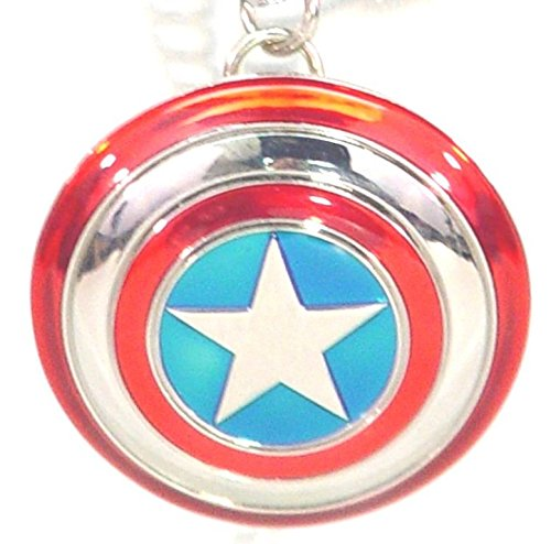 Captain America Shield Pewter Color Metal Charm 2 inches (Charms 2 Pewter)