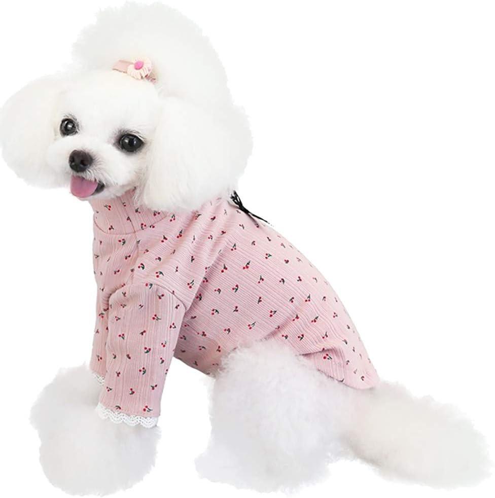 XiinxiGo Camisa para Perros, Camisa A Cuadros de Moda para Mascotas Ropa para Perros, Camisa para Gatos Suave y Cómoda,Rosado,L