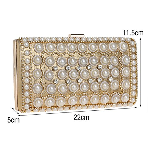 Evening Black Women's Bag Dress Bag Bag Dinner Clutch SHISHANG ZYXCC Pearl Party RpdwPqf88x