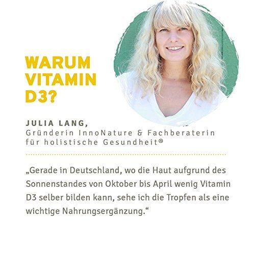 Vitamin D3 (Cholecalciferol) 1.750 Tropfen (1000 I.E. / 25µg) 50ml Flasche. Natives Olivenöl mit Vitamin D3 aus Flechten. Laborgeprüft, hohe Verwertbarkeit, hochdosiert, vegan und hergestellt in DE.