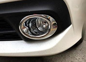 For Honda Civic 10th Gen 4dr 2016-2017 Chrome Front Fog Light Ring Cover Trim