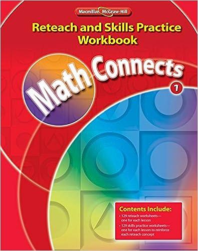 Math Connects Kindergarten Homework Practice Workbook