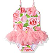 Kate Mack Baby Girls Rose Parfait Tutu Swimsuit, Pink, 18M