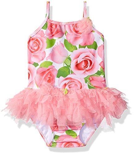 Kate Mack Girls Rose Parfait Tutu Swimsuit, Pink, 24M