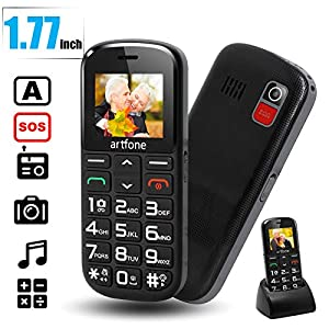 Mobile Phone for Elderly People, artfone 1400mAh Battery Big Button Mobile Phones Dual SIM Unlocked, SOS Button, Torch…