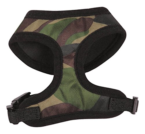 Casual Canine Green - Casual Canine Camo Dog Harness, Large, Green