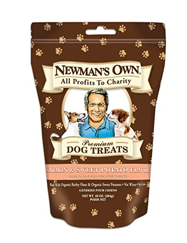 Newman's Own Premium Dog Treats, Salmon & Sweet Potato, Breakable Medium, 10-Ounce Bags (Pack of 6) (Sweet Treet)