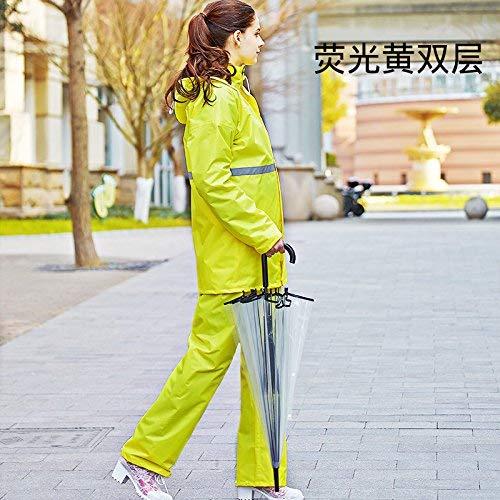 Yingsssq Riflettente Tuta Impermeabile Antipioggia Donne Che Dividere Sicurezza Indumenti Di Stradale L'impermeabile Ambientale Uomini Verdi Avvertono Risanamento Impermeabili E pp5rqfW1