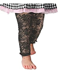 Baby Emporio-Baby & Toddler Girl Lace Leggings-Satin Bows at Ankles Gift Bag